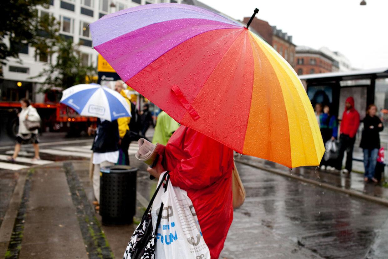 Kun en smule nedbør af den hvide slags i løbet af dagen i morgen. Resten af ugen byder på regn, regn og atter regn.