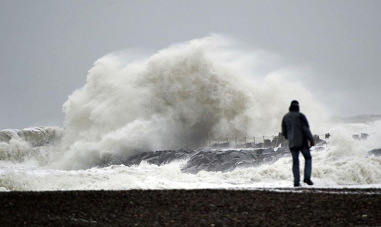 Arkivfoto: Kraftigt stormvejr rammer Danmark