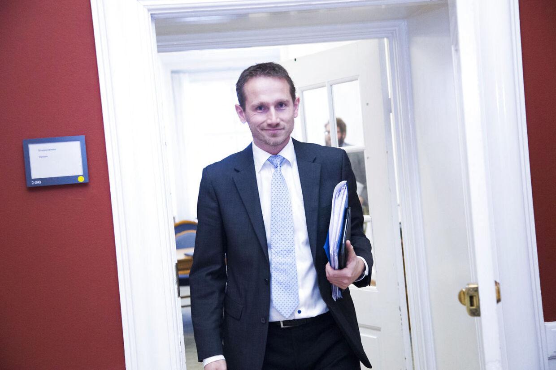Gruppemøde hos Venstre på Christiansborg tirsdag d. 2 december 2014. Kristian Jensen