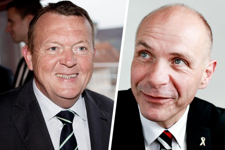 Tidligere statsminister Lars Løkke Rasmussen og Søren Gade, der nu stiller op for Venstre i Aalborg.