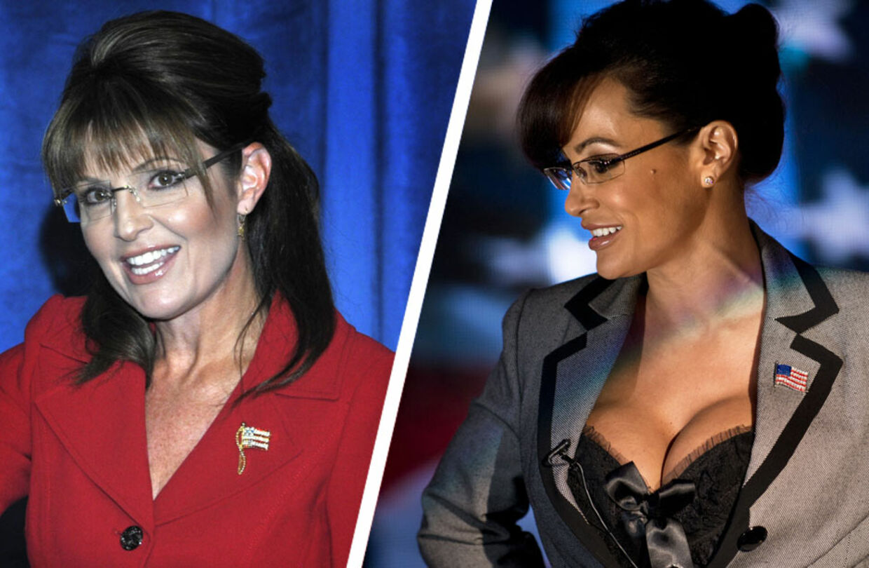 Det er Sarah Palin til højre. Næ! Vent - det er Palin til venstre. Det er pornostjernen Lisa Ann til højre.