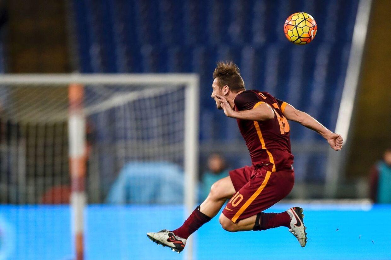 Roma og Milan spillede uafgjort. Her ses Romas Francesco Totti.