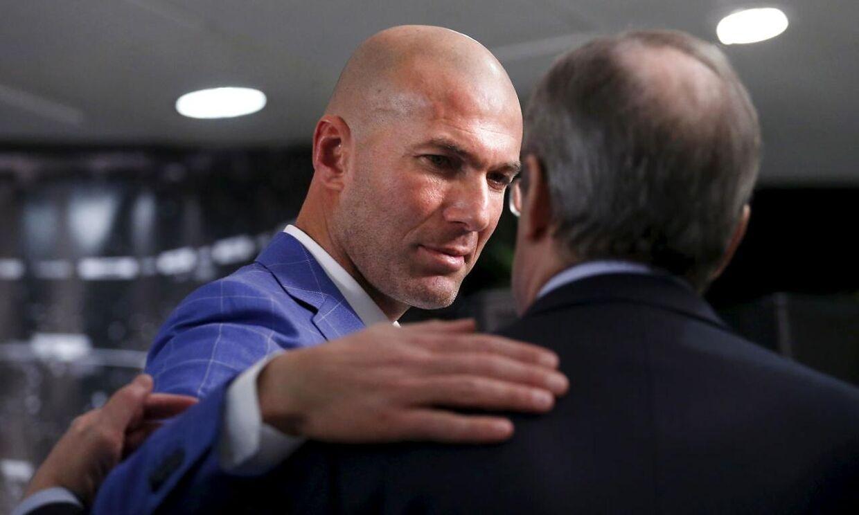 Zinedine Zidane er ny cheftræner i Real Madrid.