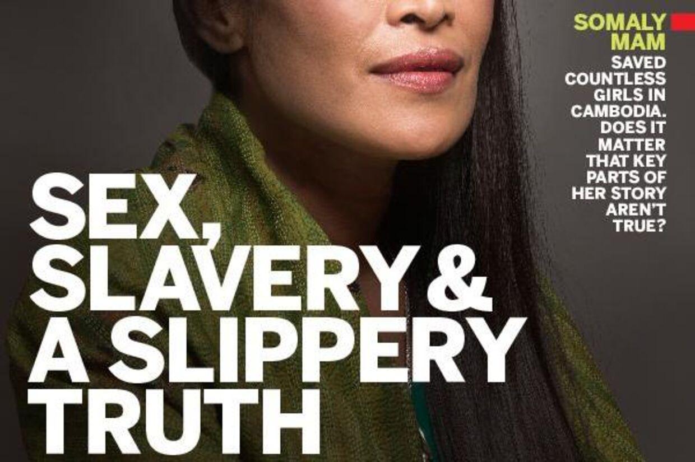 Forsiden på magasinet Newsweek, som afslørede historien om Somaly Mam.