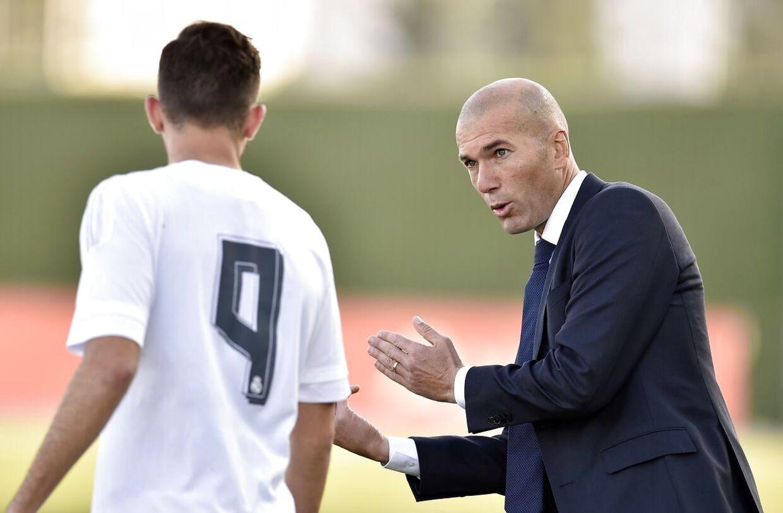 Borja Mayoral og Zinédine Zidane.