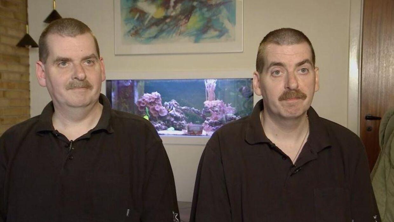 Torben (tv) og Anders Pedersen kendt fra TV2 programmerne om deres liv som enæggede tvillinger, har haft indbrud i deres fælles hjem.