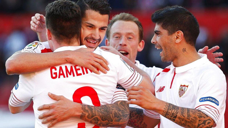 Michael Krohn-Dehli lagde op til det ene af Sevillas to mål.