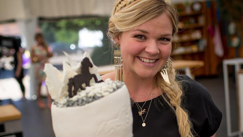 Liv Martine Hansen, 24 år, vandt 'Den store bagedyst' med sin eventyrlige hestekage.