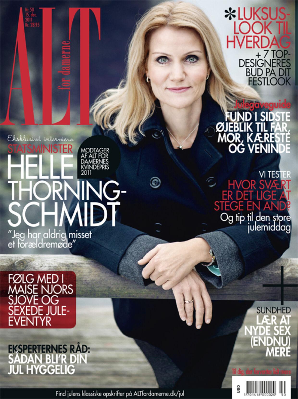 Helle Thorning-Schmidt på forsiden af Alt for damerne