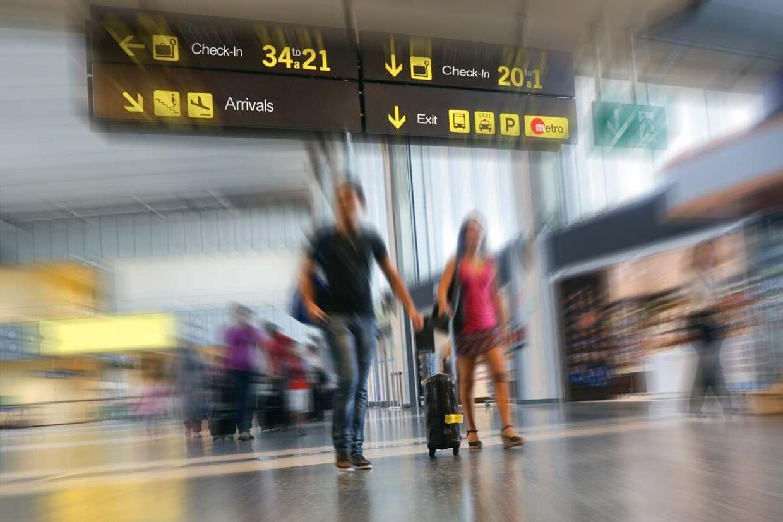 Kom i god tid og sørg for at være udhvilet og mæt inden flyrejsen. Foto: Scanpix/Iris