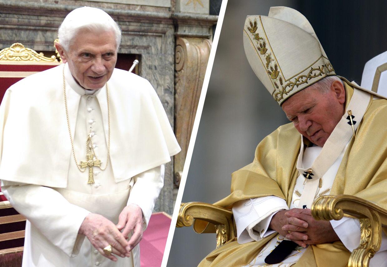 BT bragte i mandagens avis billedet til højre, der forestiller den tidligere pave Johannes Paul II. Vi skulle have bragt billedet til venstre - det forestiller den nuværende pave Benedict XVI.