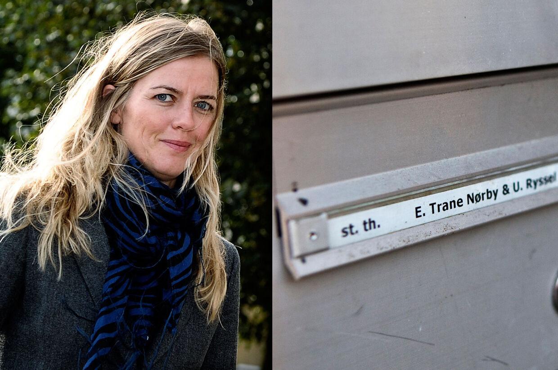 Ellen Trane Nørby har boet sammen med kæresten Ulrik Ryssel Albertsen i hendes andelslejlighed på Frederiksberg de sidste tre år. Alligevel har hun folkeregisteradresse i Sønderborg.