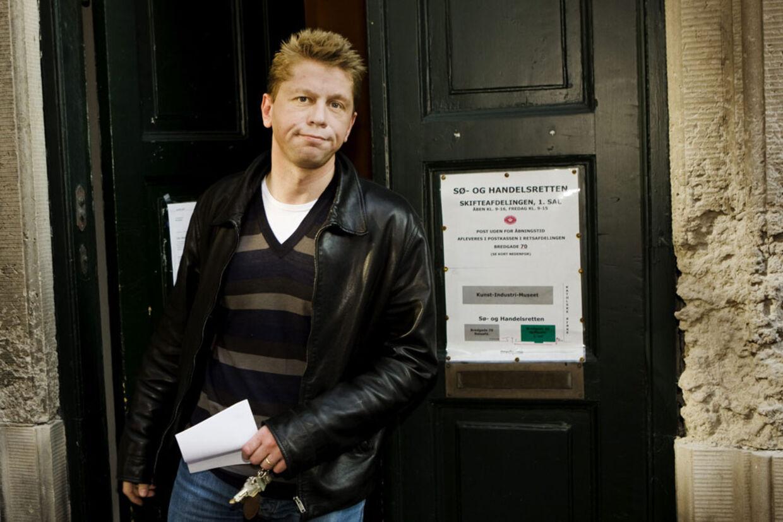 Den fallerede ejendomsmatador Kenneth Schwartz Thomsen fotograferet foran Sø- og Handelsretten.