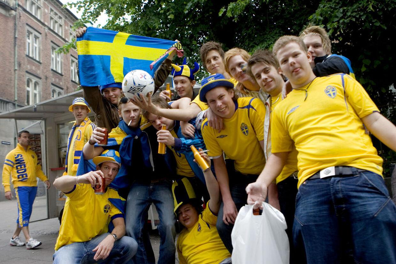 Arkivfoto: Svenske fans før fodbold.