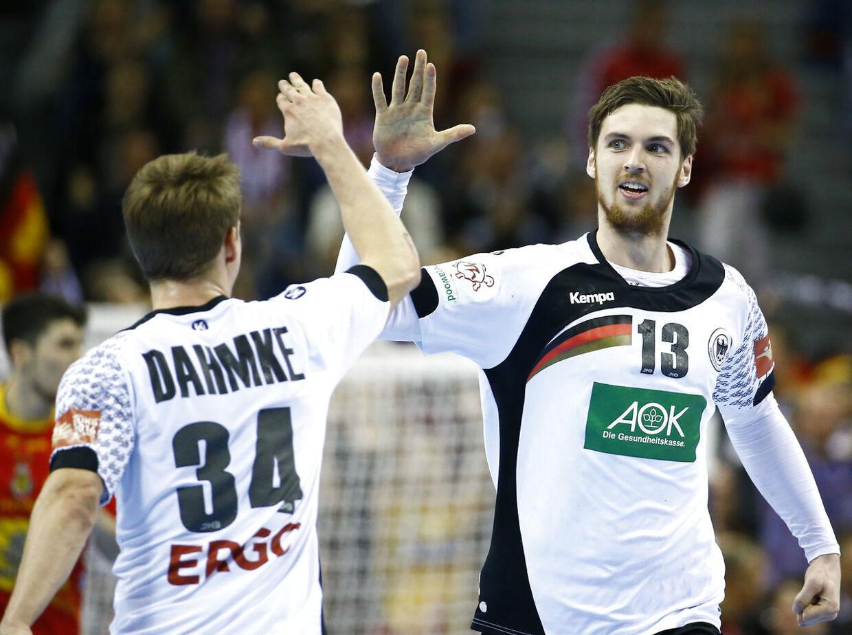 Hendrik Pekeler og Rune Dahmke fra Tyskland er nye EM-guldvindere efter finalesejren over Spanien.