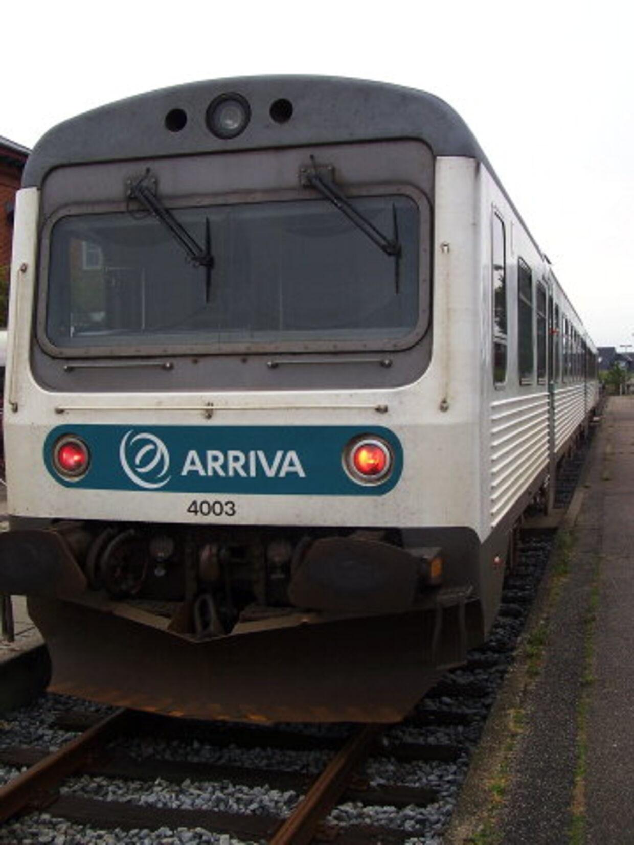 Martin Harris surfede på Arriva-toget, der var på vej fra Lem til Ringkøbing.