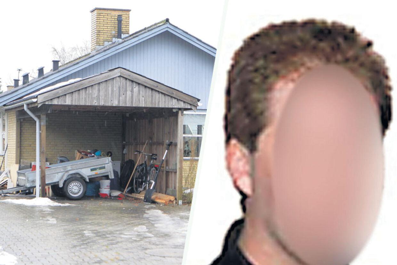 Her huset hvor familien boede, og hvor den 36-årige mand blev fundet død 12. december 2011.