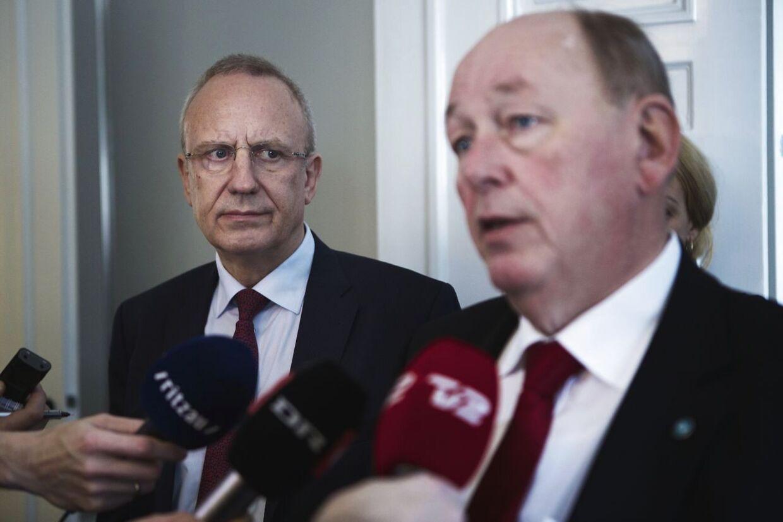 LO-formand Harald Børsting (th)