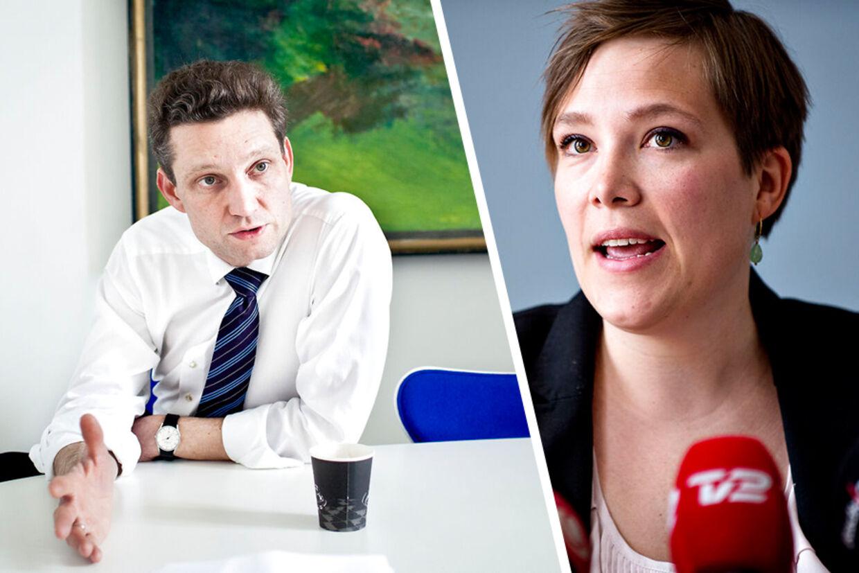 Ole Hækkerup serverer bitter velkomst til eks-sundhedsminister Astrid Krag (arkivfoto).