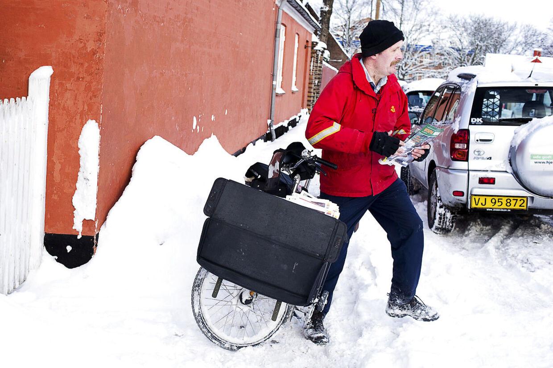 Arkivfoto: Det kan være svært for al julepost at nå frem, når vejret driller.