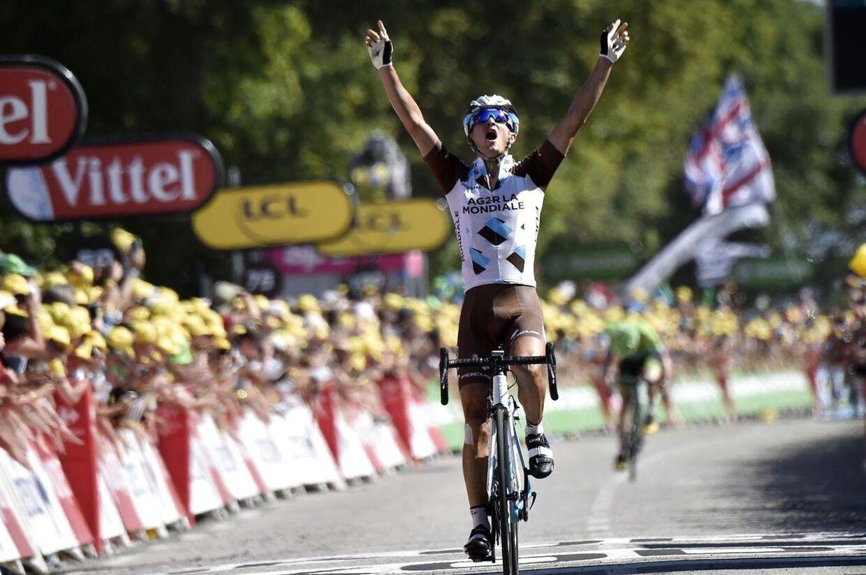 Alexis Vuillermoz vandt lørdagens Tour de France-etape på Mur-de-Bretagne