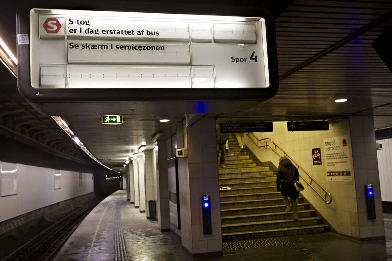Ingen S-tog på Nørreport Station