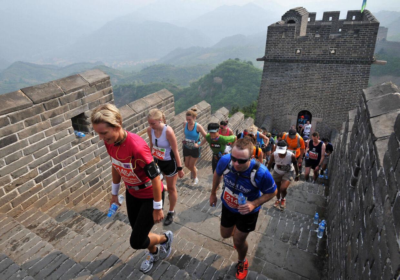 The Great Wall Marathon er et af verdens hårdeste maratonløb og blev løbet for 16. gang.