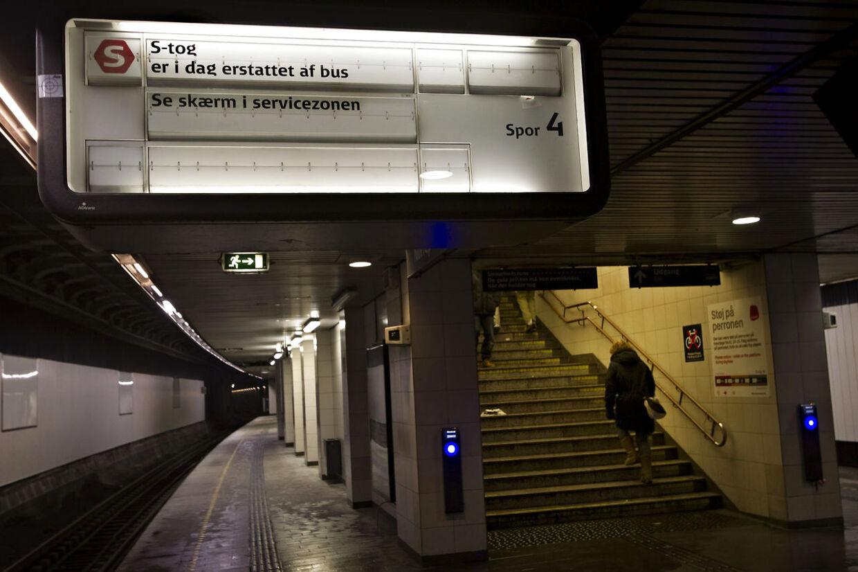 Der var ingen S-tog at tage fra Nørreport Station tirsdag eftermiddag.