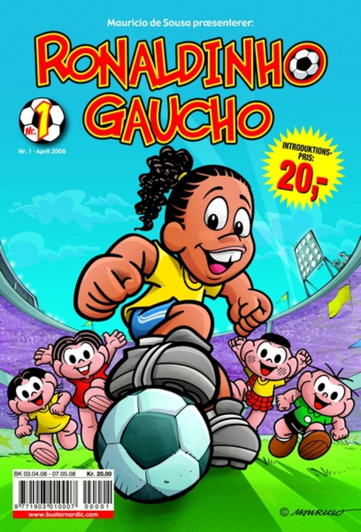 """Her er det første nummer af """"Ronaldinho Gaucho"""", der kommer på gaden næste torsdag."""