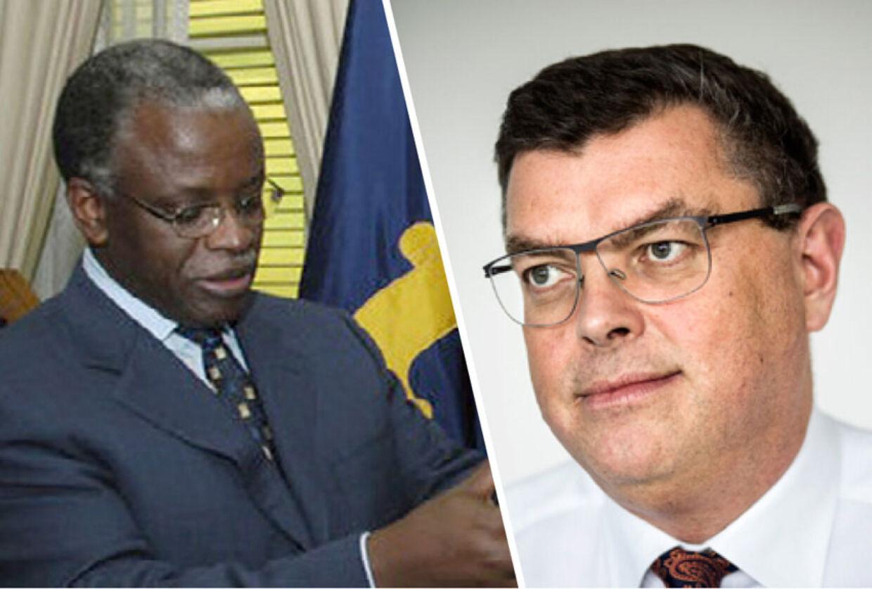 Ugandas premierminister Amama Mbabazi og den danske udviklingsminister Mogens Jensen
