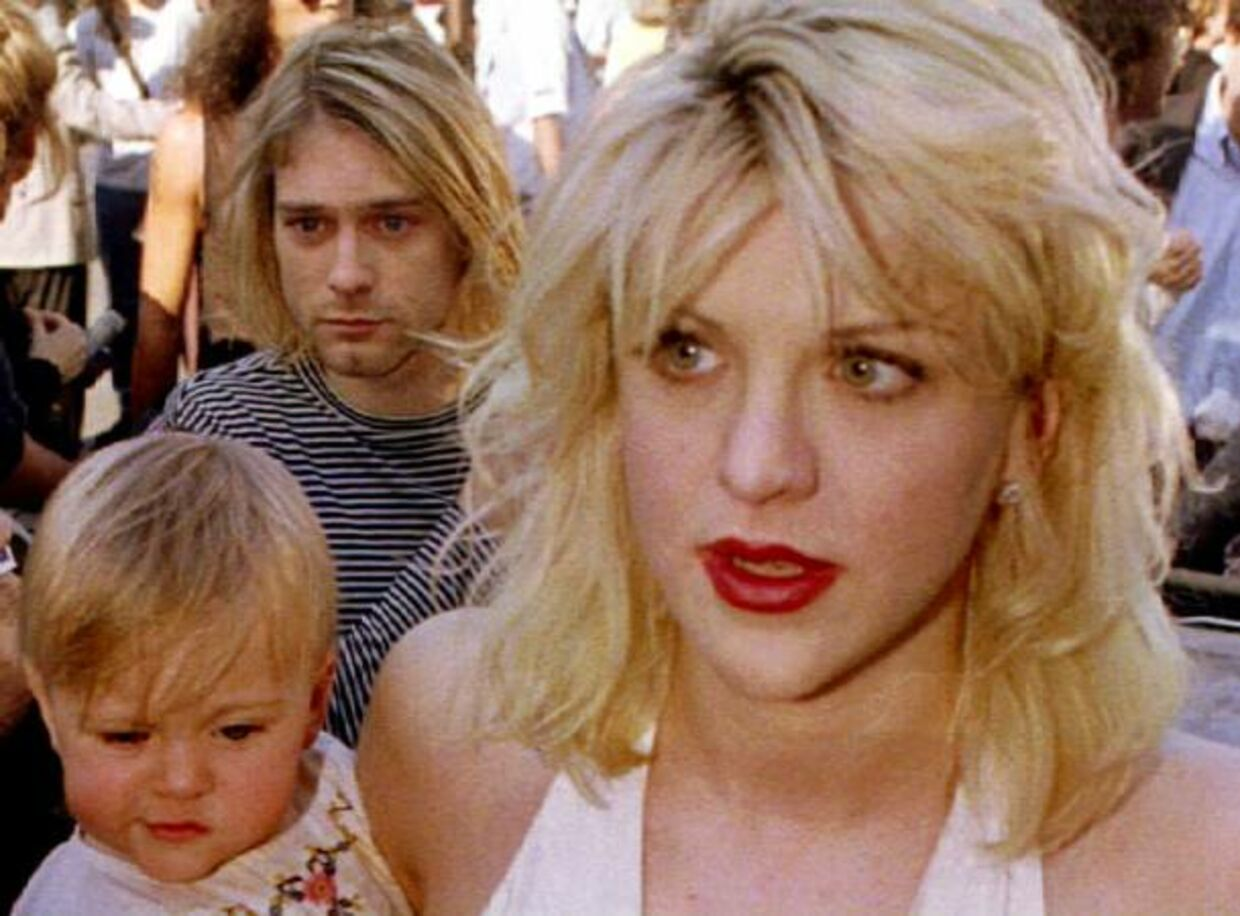 Kurt Cobain, Courtney Love og datteren Frances Bean.