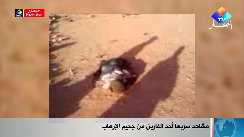 Et billede fra en video filmet af et gidsel, der flygtede fra gasanlægget, hvor islamiske terrorister holdt hundredevis af arbejder gidsler, viser angiveligt uidentificerede lig på anlægget. Billederne er blevet vist på algerisk tv.