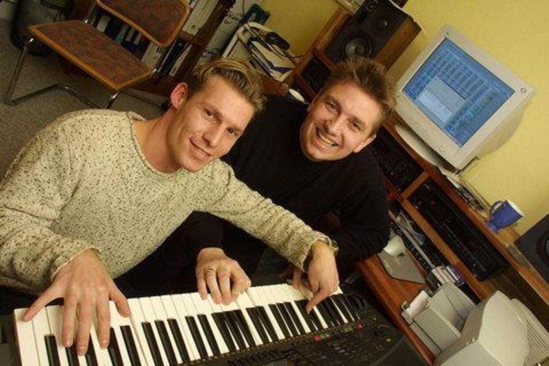 DANSK REKORD: Melodien er dansk, sangerne er fra Litauen, og mændene bag er Brian Reinholdt og Ulf Andreasen.  Foto: Erik Luntang<p</p><br>