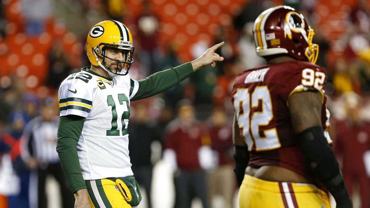 Quarterback Aaron Rodgers #12 var afgørende for Green Bay Packers-sejren over Washington Redskins.