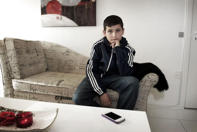 12-årige Racan Mansoor var en af de drenge, der efter ballade i 6.c. oplevede den ophidsede skoleleder miste fatningen.