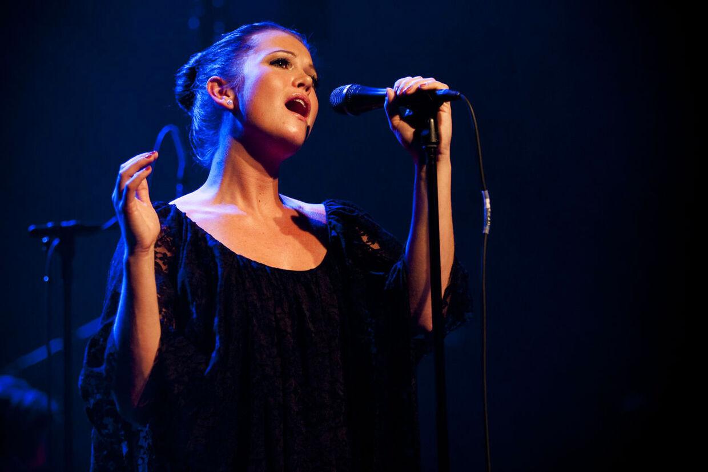 Koncert med det danske band Panamah i Store Vega. I forgrunden sangerinde Amalie Stender.