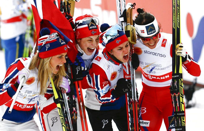 Norge tog revanche på stafetten - Sverige driller med