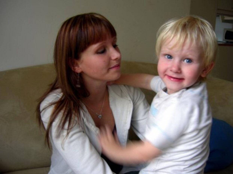 Christina da hun medvirkede i 'De unge mødre'