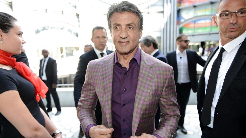 Sylvester Stallone ankommer til udstilling 'Real Love' på Galerie Contemporaine du Musee de Nice den 16. maj 2015.