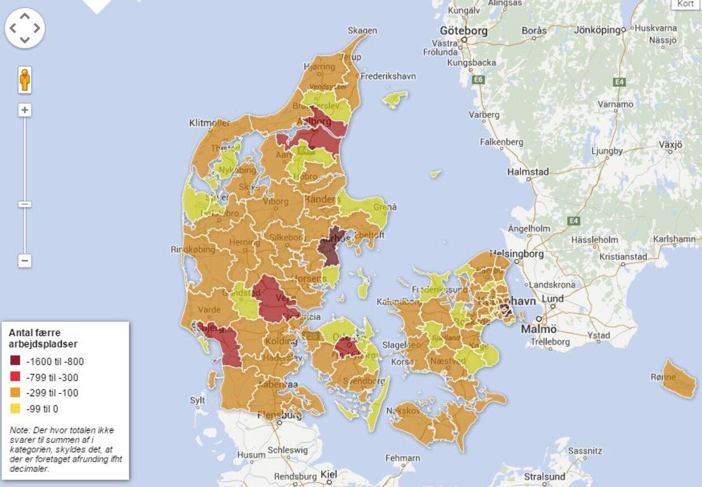 Klik på linket til grafikken i teksten for at få overblikket over, hvordan din kommune bliver ramt.