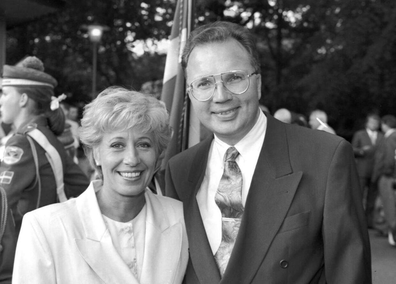 Birthe Kjær med kæresten Fritz Schur (arkivfoto).