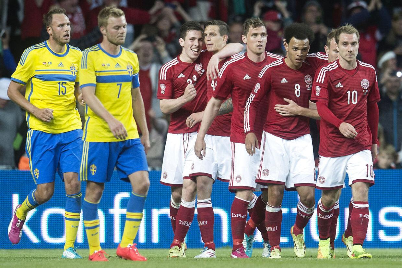 Der er flest danskere på det dansk-svenske landshold.
