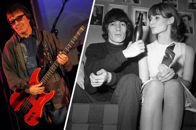 Om to år fylder Rolling Stones-bassist 80 år. 4. og 5. december giver han sammen med sit band The Rhythm Kings koncert i hhv Odense og København. Til højre ses en ung Bill Wyman efter en koncert i KB Hallen. Pigen til højre er en ukendt dansk fan.