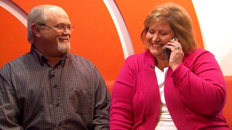 John og Lisa Robinson kunne fredag morgen stolt fremvise en ganske værdifuld vinderkupon, da de gæstede det amerikanske Today Show.