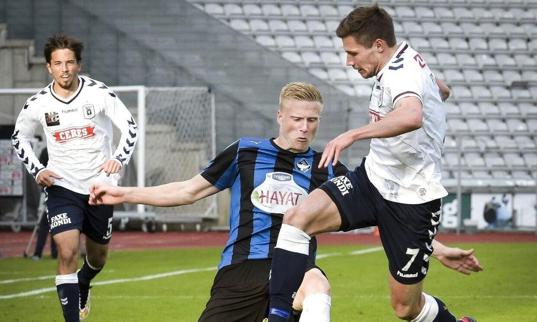 Kristian Pedersen (im) fra HB Køge er med Borussia Mönchengladbach på træningstur til Tyrkiet.