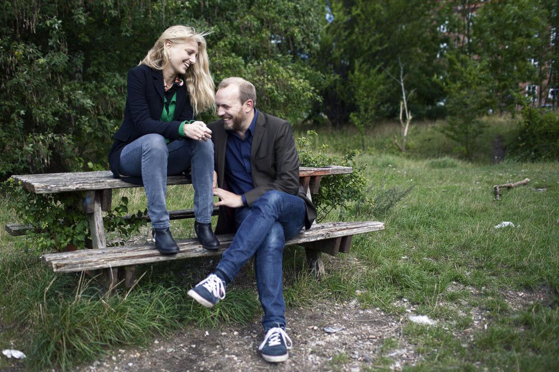 Her ses Zenia Stampe og hendes mand Martin Lyngbo
