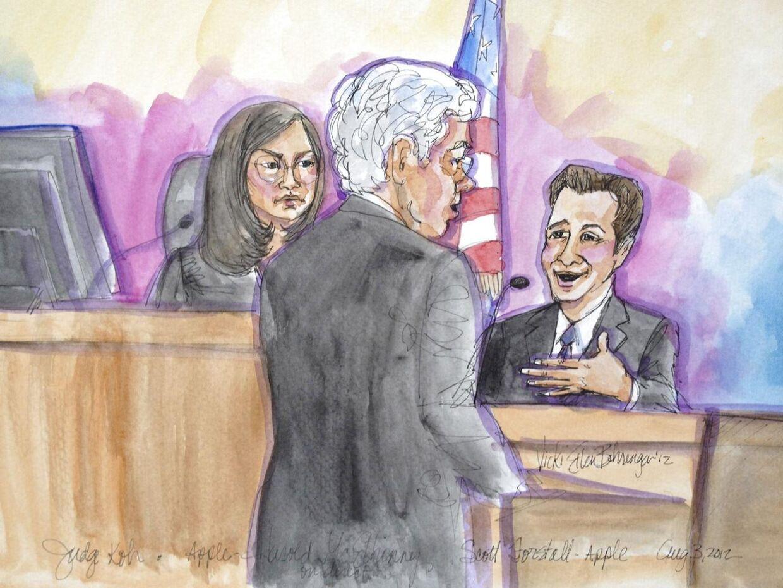 Apples advokat i sagen mellem Samsung og Apple måtte svare på, om han røg crack efter at have fremlagt et dokument med 22 nye vidner.