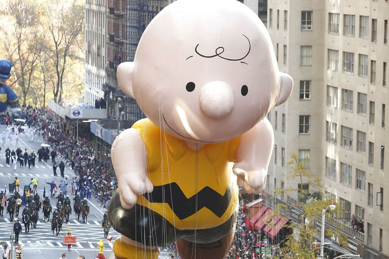 En Søren Brun-ballon fra en Thanksgiving-parade i New York. Foto: Reuters