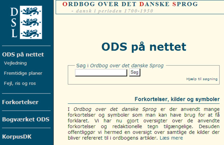 den danske betydningsordbog