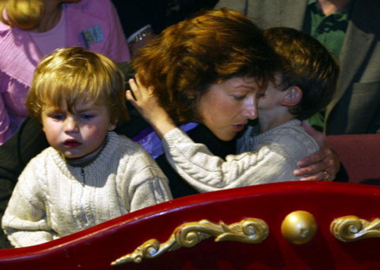Prins Nikolai (t.h.) og prins Felix skal bo fast hos deres mor på Amalienborg. Prins Joachim får fast samvær med børnene og skal betale børnebidrag til sin eks-hustru. Foto: Jørgen Jessen